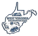 West Virginia Map Fridge Magnet
