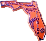Florida State Outline Fridge Magnet