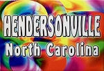 Hendersonville North Carolina Tye Die Fridge Magnet