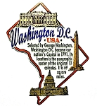 Washington D.C. Montage Fridge Magnet