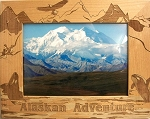 Alaskan Adventure Laser Engraved Wood Picture Frame (5 x 7)