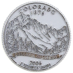Colorado State Quarter Fridge Magnet