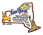 New York the Empire State Outline Montage Fridge Magnet