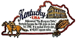 Kentucky Outline Montage Fridge Magnet