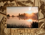 Hayward Wisconsin Laser Engraved Wood Picture Frame (5 x 7)