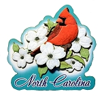 North Carolina Cardinal Artwood Fridge Magnet