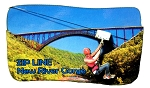 Zip Line New River Gorge West Virginia Artwood Fridge Magnet