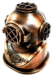 Deep Sea Divers Helmet Die Cast Metal Collectible Pencil Sharpener
