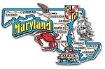 Maryland Jumbo Map Fridge Magnet