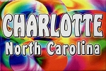 Charlotte North Carolina Tye Die Fridge Magnet