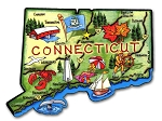 Connecticut State Outline Artwood Jumbo Fridge Magnet