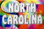 North Carolina Tye Die Fridge Magnet