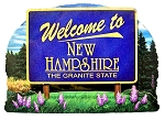 New Hampshire State Welcome Sign Artwood Fridge Magnet