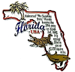 Florida Outline Montage Fridge Magnet