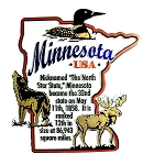 Minnesota The North Star State Outline Montage Fridge Magnet