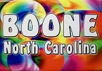 Boone North Carolina Tye Die Fridge Magnet