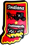 Indiana Springfield Multi Color Fridge Magnet