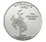 Wyoming State Quarter Fridge Magnet