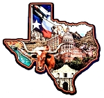 Texas State Collage Fridge Magnet