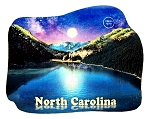 North Carolina Lake Scene with Light-Up Moon Artwood Fridge Magnet