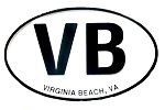Virginia Beach VB Oval Fridge Magnet