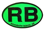 Rehoboth Beach Delaware Green Oval Fridge Magnet
