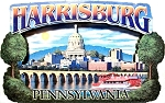 Harrisburg Pennsylvania Montage Artwood Fridge Magnet