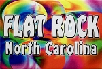 Flat Rock North Carolina Tye Die Fridge Magnet