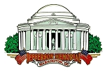 The Jefferson Memorial Washington D.C. Fridge Magnet