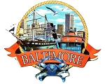 Baltimore Maryland Montage Artwood Fridge Magnet