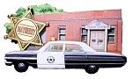 Mayberry North Carolina with Police Car Artwood Fridge Magnet