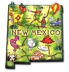 New Mexico State Outline Artwood Jumbo Fridge Magnet
