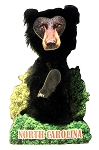 Bobble Head Black Bear North Carolina Artwood Fridge Magnet