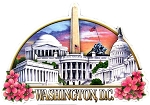 Washington DC Montage Artwood Fridge Magnet
