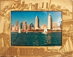 San Diego California Laser Engraved Wood Picture Frame (5 x 7)