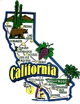 California Jumbo Map Fridge Magnet