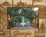 Georgia Laser Engraved Wood Picture Frame (5 x 7)