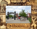University of Louisville Engraved Wood Picture Frame (5 x 7)