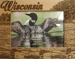 Wisconsin Laser Engraved Wood Picture Frame (5 x 7)