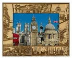 London England Laser Engraved Wood Picture Frame (5 x 7)