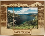Lake Tahoe Laser Engraved Wood Picture Frame (5 x 7)