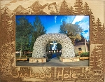 Jackson Hole Wyoming Laser Engraved Wood Picture Frame (5 x 7)