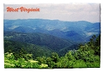West Virginia Mountain Scene Fridge Magnet