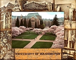 University of Washington Laser Engraved Wood Picture Frame (5 x 7)