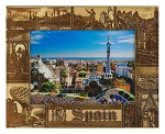 Spain Laser Engraved Wood Picture Frame (5 x 7)