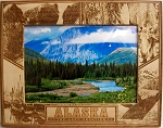 Alaska The Last Frontier Laser Engraved Wood Picture Frame (5 x 7)