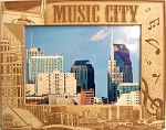 Music City Nashville Tennessee Laser Engraved Wood Picture Frame (5 x 7)