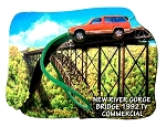 New River Gorge Bridge West Virginia Car Bungie Jump Artwood Fridge Magnet