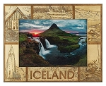 Iceland Laser Engraved Wood Picture Frame (5 x 7)