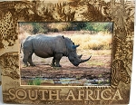 South Africa Laser Engraved Wood Picture Frame (5 x 7)